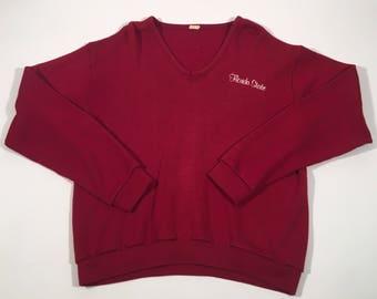 Vintage Florida state university v neck sweater