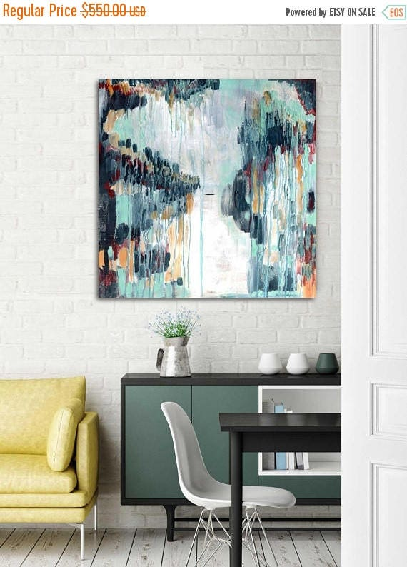 HOLIDAY SALE Abstract Painting, Mid Century Modern Art, Original Abstract,  Art For Office, Modern Abstract, Interior Decor, Interior Art, Co