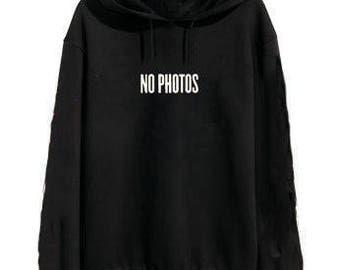 Justin Bieber No Photos Purpose Tour Merch Hoodie Sweatshirt