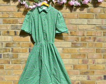 50's/60's Style Green Tea Dress