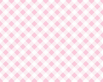 Pink Gingham Fabric - Riley Blake Pink Gingham Fabric - Pink and White Check Fabric