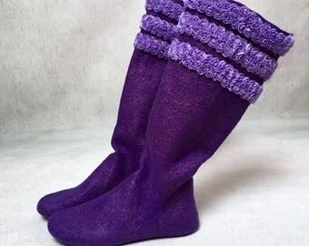 Home socks . Slippers . Handmade .