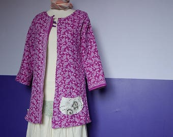 """Coat """"Samarkand"""" double sided cotton and wool blend"""