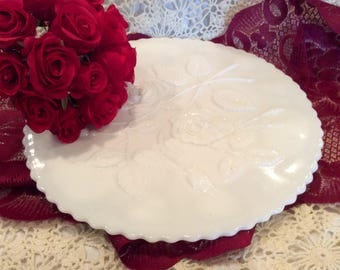 Imperial Milk Glass canapé or cake plate