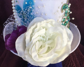 White Pearl Fancy Lady Tophat