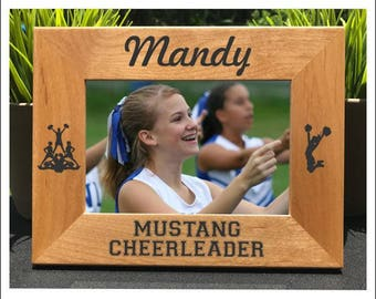 Cheerleader // Personalized Engraved Photo Frame // Picture Frame // Gift