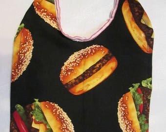 Hamburger Reversible Baby Bib