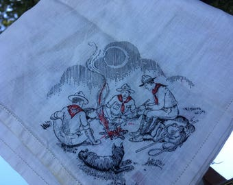 Vintage Boy Scout Handkerchief, Boy Scouts of America, Headquarters New York City