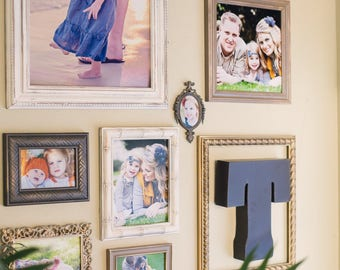 Distressed Picture Frames, Gallery Wall