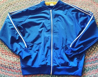Blue and white track jacket