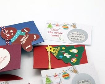 Mini pochette de Noel surprise pour faire un cadeau ou une annonce originale