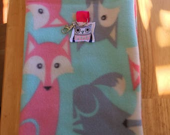 VALENTINES SALE: Small Pet Pouch - Foxes