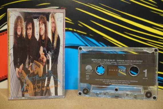 The 5.98 EP - Garage Days Re-Revisited by Metallica Vintage Cassette Tape