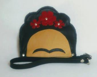 Essential Frida Clutch Purse, Leather Purse, Diego Rivera, Casa Azul, Flower Purse, Mexico, Mexican Artist, Leather Bag, Fridamania,