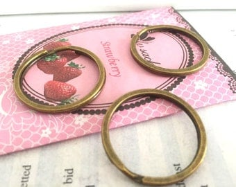 wholesale 100 Pieces /Lot Antique bronze Plated 28mm double Split key ring