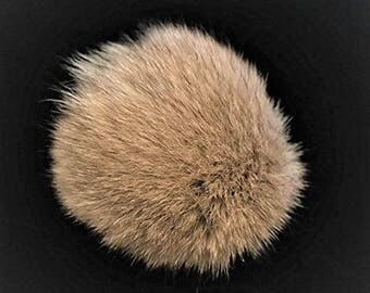 38781bd69b6 Natural Genuine Fox Fur Pom Pom Ball 3.5  - 4   inch width from ...