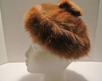 Vintage - mink fur hat