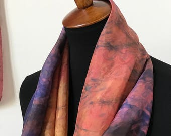 Prophetic - Silk Scarf - Gifts for Women - Dyed Silk - Christian Gifts - Narrow Infinity Silk Scarf called Spirit of Adoption