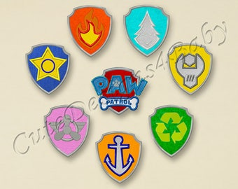 SALE! SET Paw Patrol Badges applique embroidery design, Paw Patrol Machine Embroidery Designs, Embroidery designs baby, 8 designs #022