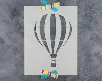 Hot Air Balloon Stencil - Reusable DIY Craft Stencils of a Hot Air Balloon