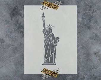 Statue of Liberty Stencil - Reusable DIY Craft Stencils of the Statue of Liberty