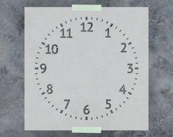 Clock Stencil - Reusable DIY Craft Stencils of a Clock
