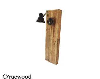 """Hanging lamp, """"Igor"""", Reclaimed Wood, Unique Wall Lamp, Wall Lamp, Industrial"""