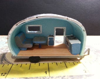 Teardrop Miniature camper kit - DIY - You build it from AgedWithThyme on Etsy Studio