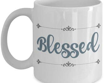 Blessed Farmhouse Mugs | Farmhouse Decor | Farmhouse Kitchen | Farmhouse  Style | Christian Gifts | Mothers Day | Birthday Gift for Mom Her