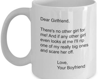 Dear Girlfriend Mug Gift From Boyfriend - Valentines Day Gifts -  Birthday Gift 11oz Cup - Girlfriend Gift for Her - Rip A Big One