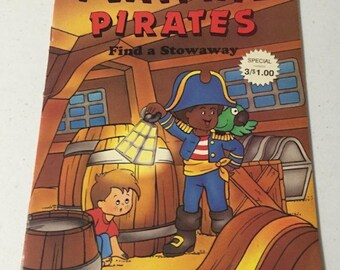Coloring Book and Activity Book, Playtime Pirates 1991, Inv1224,