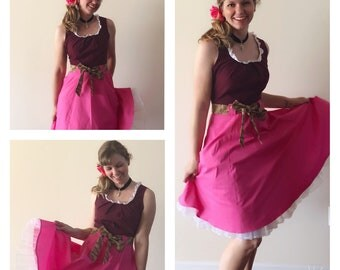 Red Headed Pirate Wench Fit and Flare Bound