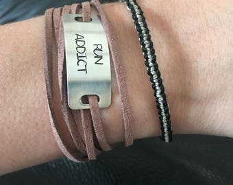 CordonByLn suede stamped personalized jewelry with your words