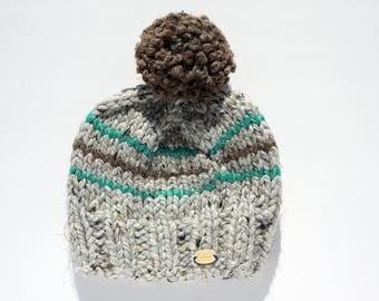 Handmade, chunky knit, baby boy hat, baby boy winter toque, knit winter toque, knit winter hat, knit hat, knit toque