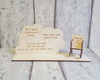 memorial plaque, remembrance plaque, memorial, remembrance, Loved ones, Memorial gift, christmas in heaven