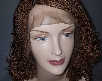 Handmade kinky braided wig