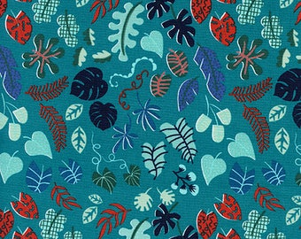 Cotton + Steel - Lagoon by Rashinda Coleman-Hale - Leafy Wonder Teal - Modern Maker Box