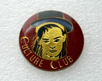 Culture Club - Enamel Pin Back Button Badge