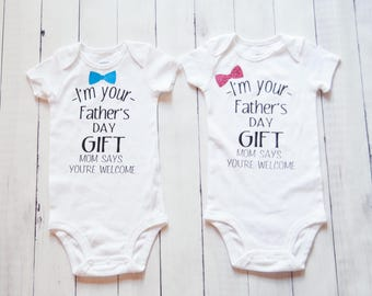 I Am Your Father's Day Gift Funny baby bodysuit shirt