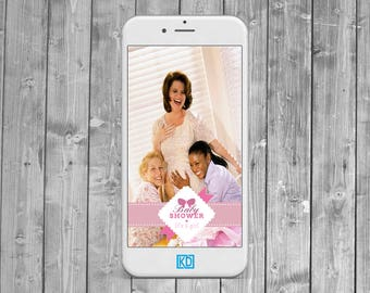 girl  Baby Shower Snapchat Geofilter