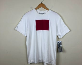 80s T Shirt Size Large, Deadstock T Shirt, 80s White Tee