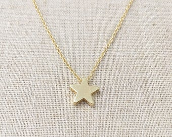 Star Necklace, Silver Star Necklace, layered Necklace, Star Charm, Gold Star Necklace, Star Jewelry, Silver Necklace, Birthday Gift, Star