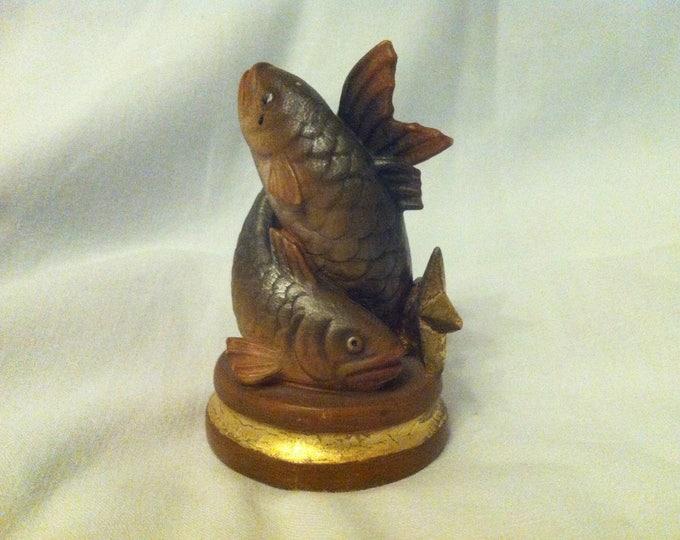 Vintage Wood Carved fish hand carved decoration