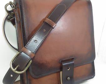 Men's Leather bag, Leather bag, Distressed Leather Bag, Men's Leather purse, Brown leather bag, Vintage Leather bag, Hipster bag