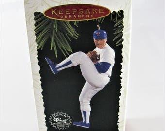 Nolan Ryan Hallmark Keepsake Ornament, Dated 1996, First in the At The Ballpark Series, Includes Hallmark Classic Trading Card