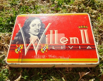 Vintage Cigar Tin Willem II Livia Holland