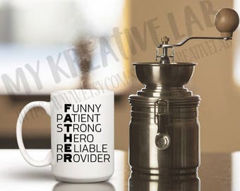 Father - Letters - Coffee Mug Decal