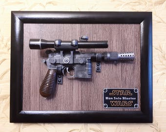 Wall mount for the Star Wars Blaster DL-44 - Han Solo blaster - Battlefront -3D printed - cosplay - props