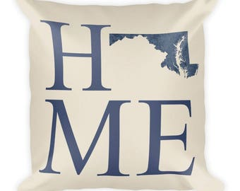 Maryland Pillow, Maryland Gifts, Maryland Decor, Maryland Home, Maryland Throw Pillow, Maryland Art, Maryland Map, Maryland Made, Cushion