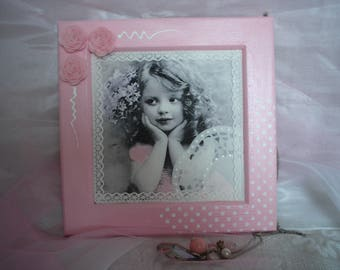 Pretty shabby chic style wooden decorative frame